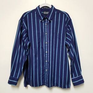 3/$15 Members Only Striped Mens Shirt Large